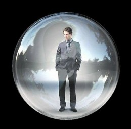 man-in-bubble
